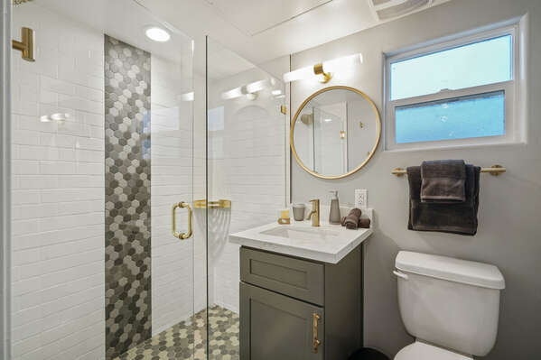 Full Bath and walk-in shower on the Second Floor