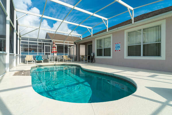 View of pool without baby safety fence