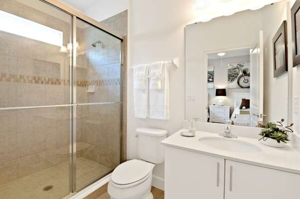 Ensuite complete with a walk-in shower