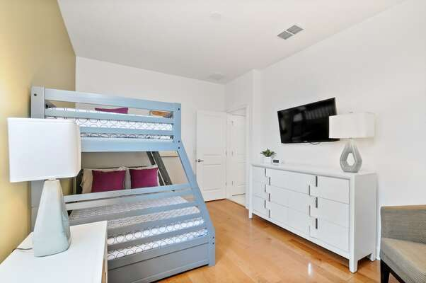 Kids will enjoy sleeping in the bunkbed