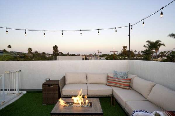 Roof Deck - Outdoor Sofa and Fire Pit
