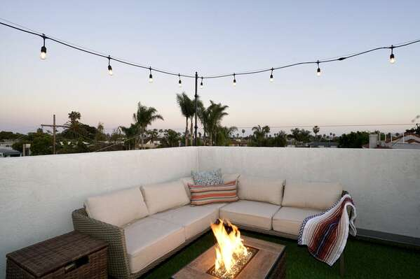 Roof Deck - Outdoor Sofa and Dire Pit