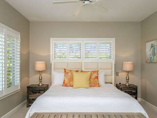 Guest bedroom with adjustable king bed