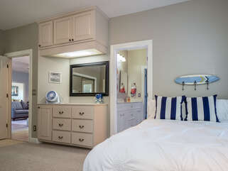 Full size bed in guest bedroom