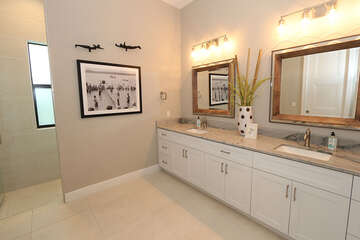Ensuite Master Bathroom with double sinks