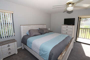 Master Bedroom with TV and lanai access