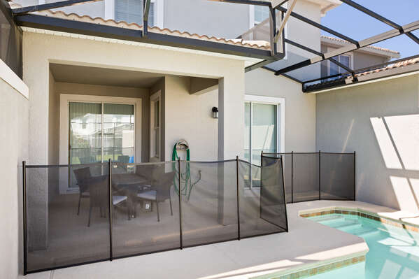 A pool fence can be put up to keep your mind at ease