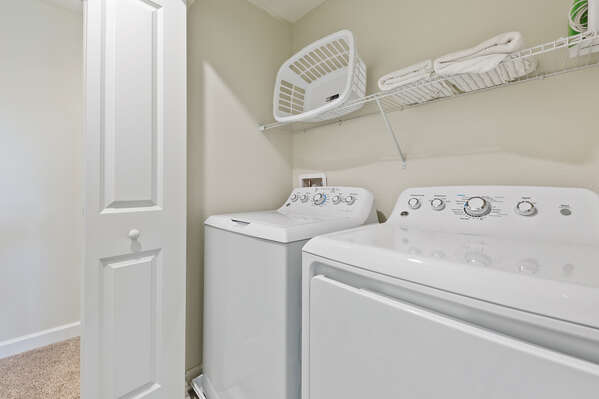 Theres a washer and dryer in the home for your convenience