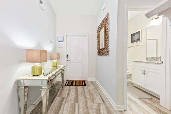 The entry way is bright and welcoming