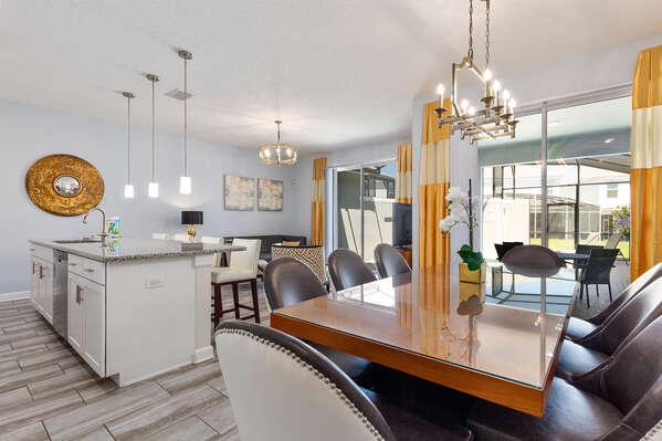 The open-concept floor plan makes entertaining a breeze