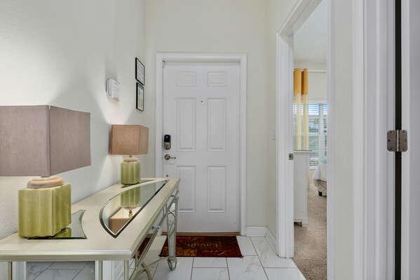 Cozy foyer as soon as you enter