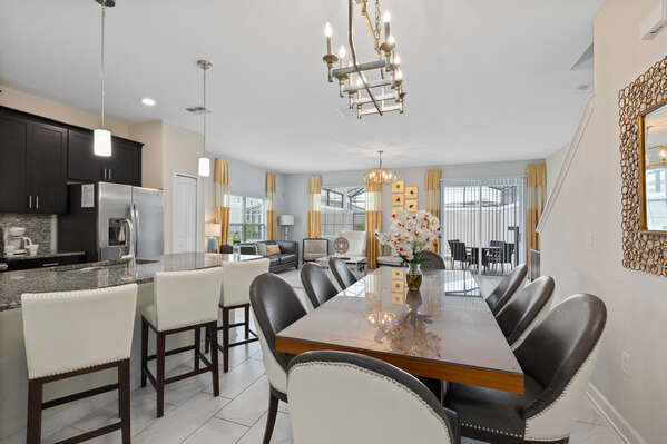The open-concept floor plan is great for getting the whole family together