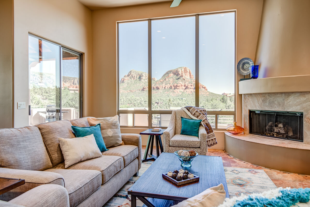 Large Windows to Bring in the Natural Light and Stunning Red Rock Views or Enjoy from the Patio