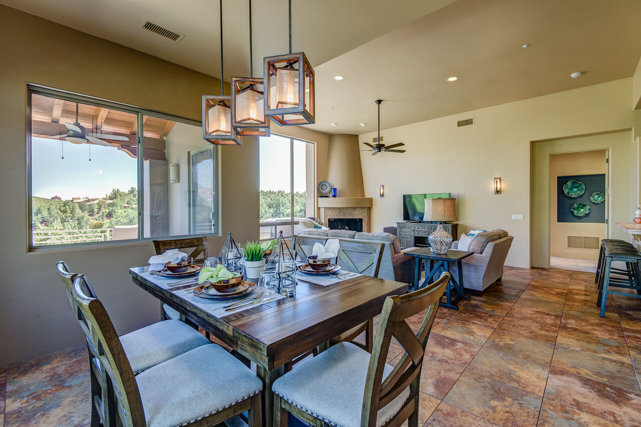 Dining Area with Seating for Six and Stunning Views from All Angles