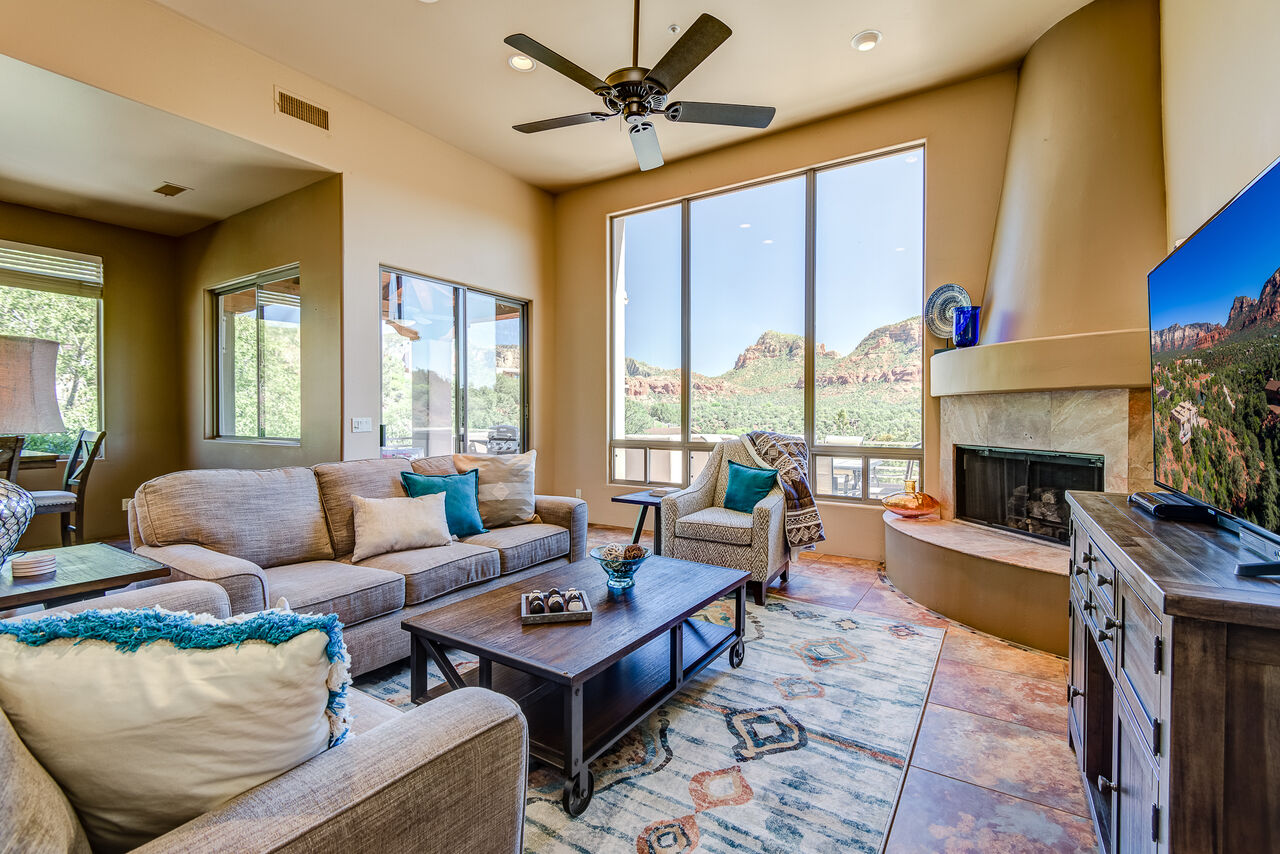 Red Rock Views are Abundant Throughout the Home