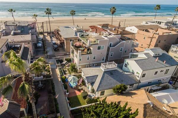 Aerial View of our San Diego Vacation Rental.