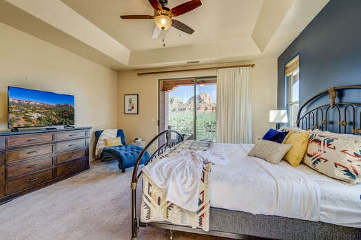 Master Bedroom with a King Bed, Smart TV, Patio Access with More Views!