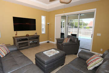 Living room with lanai access