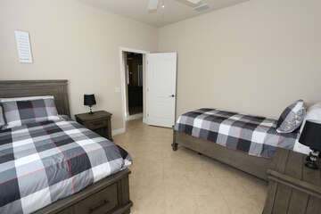 Twin Guest Bedroom with 2 twin beds NO TV