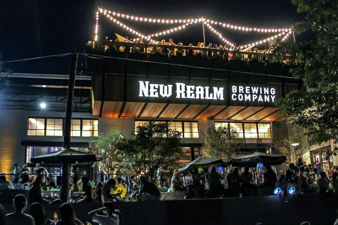 Enjoy a Pint of Beer at New Realm Brewing Company.
