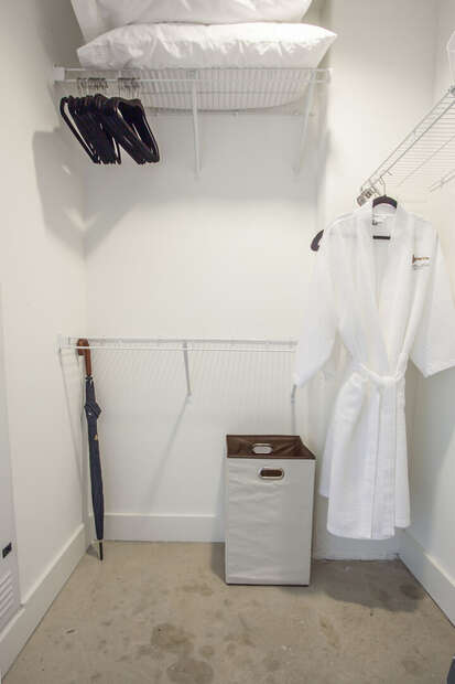 Image of Spacious Closet in Ponce City Market Apartment.