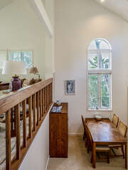 8 steps down to dining room/kitchen