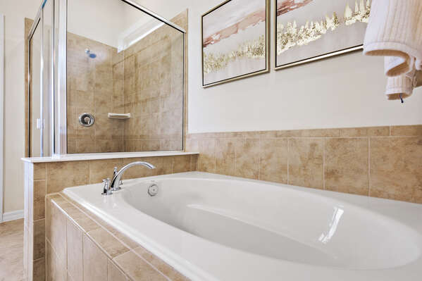 Unwind in privacy after a day of theme parks