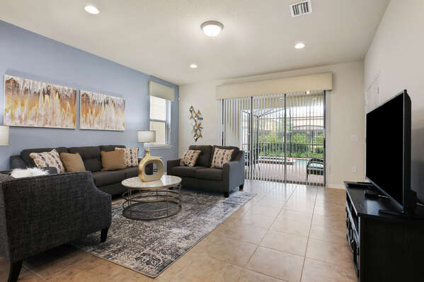 The living area is great for entertaining the whole family