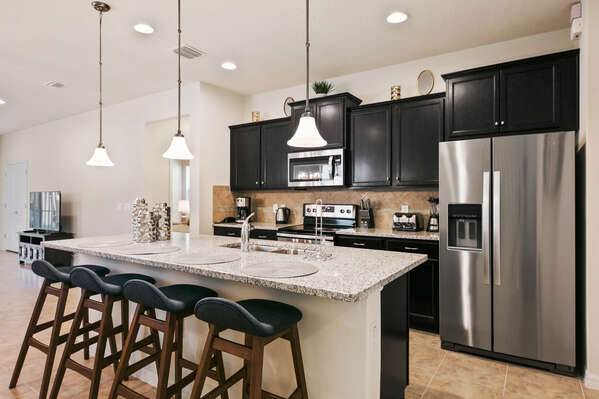 Chefs of the family will love the fully equipped kitchen