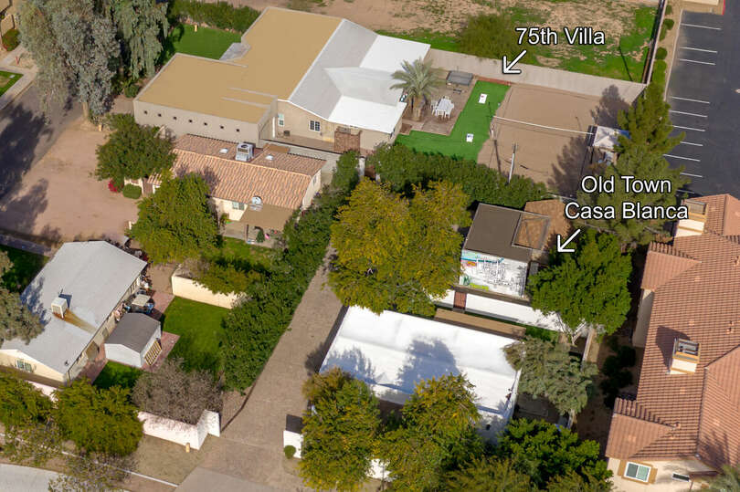 Aerial view of Old Town Casa Blanca and 75th Place