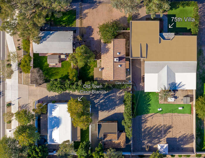 Aerial view of 75th and Old Town Casa Blanca