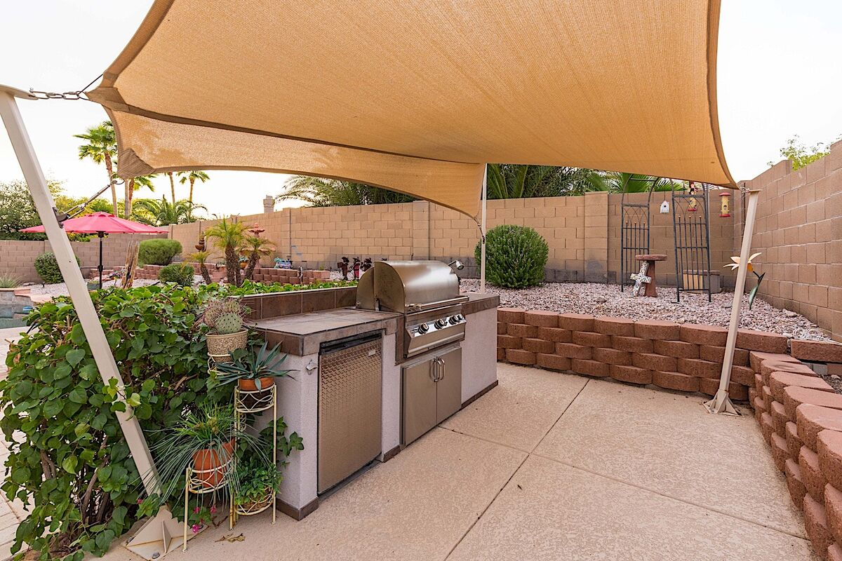 Covered BBQ Grill area