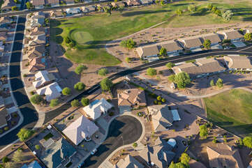 Another aerial view of our home and surrounding neighborhood - all that's missing is YOU!