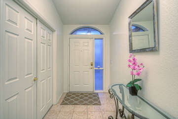 Entrance foyer welcomes you to our attractive and well maintained Sunland Springs Village home.
