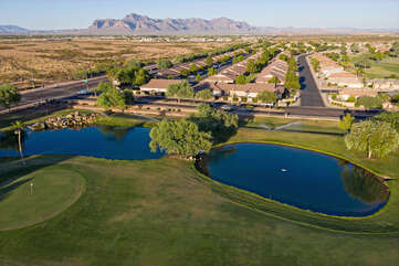 A public golf course with the Superstition Mountains in the background... what's not to love about this community!