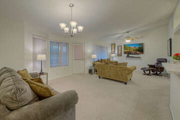 Home is a comfortable and cozy place to return to after a day on the golf course or exploring hiking/biking trails.