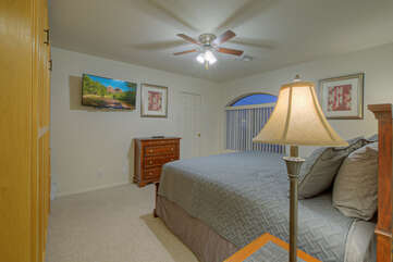 Peaceful slumber or TV viewing awaits you in all bedrooms.