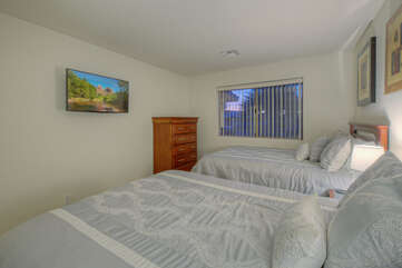 No need to argue about sleeping quarters when all bedrooms have TVs.