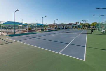 Courts are available for our tennis and pickleball loving guests.