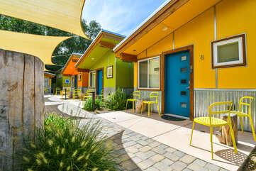 Orange Exterior of a home.