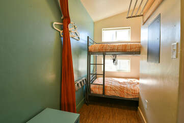 Bunk Beds in the back of this home.
