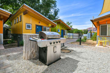 Shared grill in this vacation rental community.