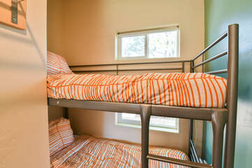 Close shot of the bunk beds in this Moab vacation rental.