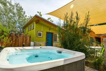 Shared hot tub near rental unit