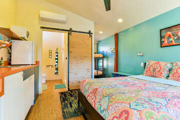 Studio View with bedroom and kitchenette