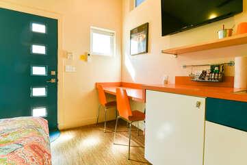 Kitchenette in unit's bedroom
