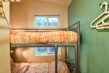 Bunk Beds with windows on nearby wall