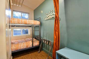 Bunk Beds adjacent to window