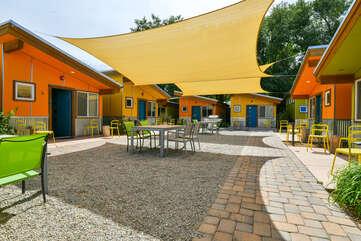 Shared Patio in center of Kokopelli resort area