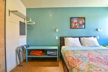 Bed and nightstand in Kokopelli West #1.